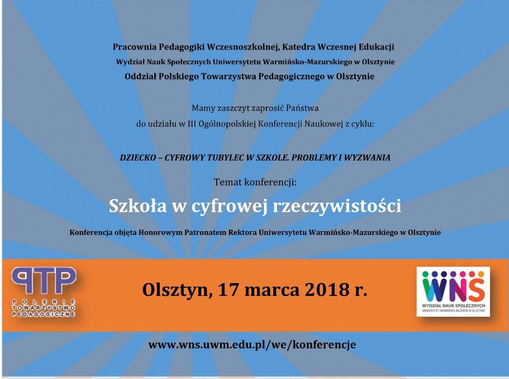 Konferencja naukowa na Uniwersytecie Warmińsko-Mazurskim